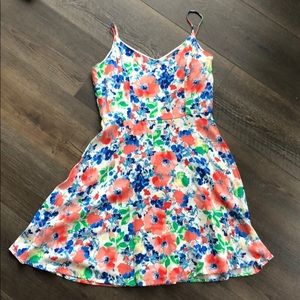 Everly watercolor floral spaghetti strap dress